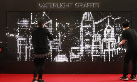 Water Light Graffiti by Antonin Fourneau.